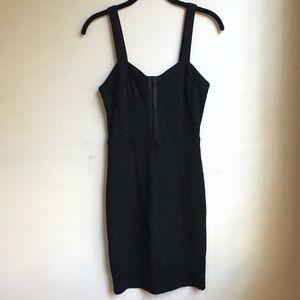 NEW Forever21 Black Bustier Corset Hook Tank Dress